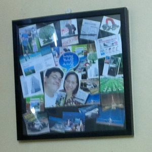 My and Hubby's Vision Board Hangs on the Wall of our Bedroom