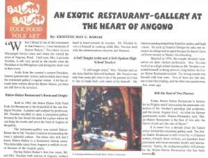 An Exotic Restaurant-Gallery at the Heart of Angono