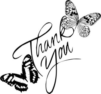 thank you with butterflies