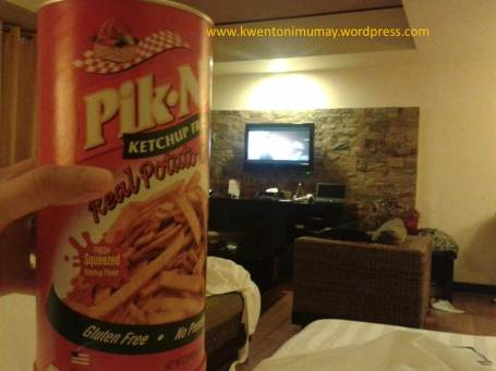 Photo taken by the blogger while taking a midnight snack from a hotel room