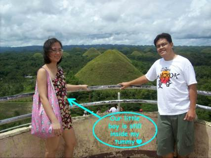 At the Chocolate Hills viewing deck